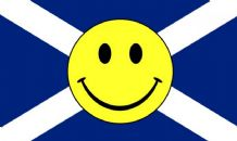 SCOTLAND ST ANDREW SMILEY - 5 X 3 FLAG